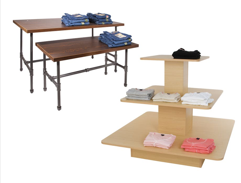 Retail Display Tables, Merchandisers and Pedestals