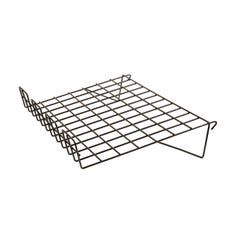 "22-1/2""L x 14""W Sloping Shelf with Lip - 1/8"" dia. Wire for Grid Panels"
