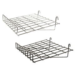 "1/4"" Wire Slant Shelf with Front Lip for Grid Panel"