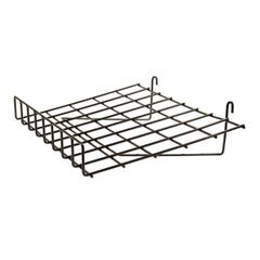 """1/4"""" Wire Slant Shelf with Front Lip for Grid Panel"""