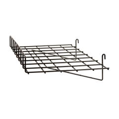 """1/4"""" Wire Straight Shelf with Front Lip for Grid Panel"""
