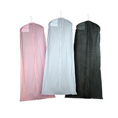 Bridal Gown Covers - 3-Gauge Vinyl with Taffeta Finish with Hanging Document Pocket