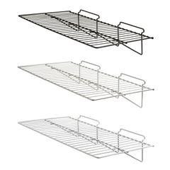 """24""""W x 12""""L Straight Wire Shelf for Slatwall"""