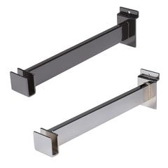 "12"" Long Bracket for Rectangular Hangrail Tubing for Slatwall"