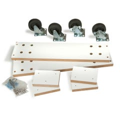 Optional Caster Kits for Slatwall Merchandisers