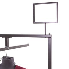 """Linea Sign Holder - 5-1/2""""H x 7""""W with a 4"""" Swedge Stem Upright"""