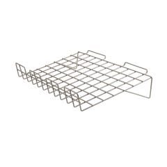 "22-1/2""W x 14""L Sloping Wire Shelf with 3"" Lip for Slatwall"