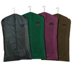 "Zippered Garment Covers - 40"" Long - 3-Gauge PEVA Vinyl with Taffeta Finish"