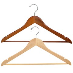 "Wooden Wishbone Suit Hanger with Pants Bar - 17"" Long"