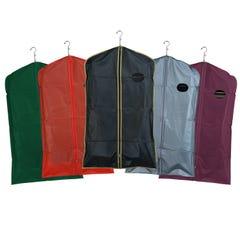 "Zippered Garment Covers - 54"" Long - 3-Gauge Vinyl with Taffeta Finish"