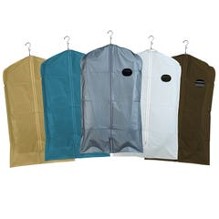 "Zippered Garment Covers - 40"" Long - 3-Gauge Vinyl WITH Taffeta Finish"